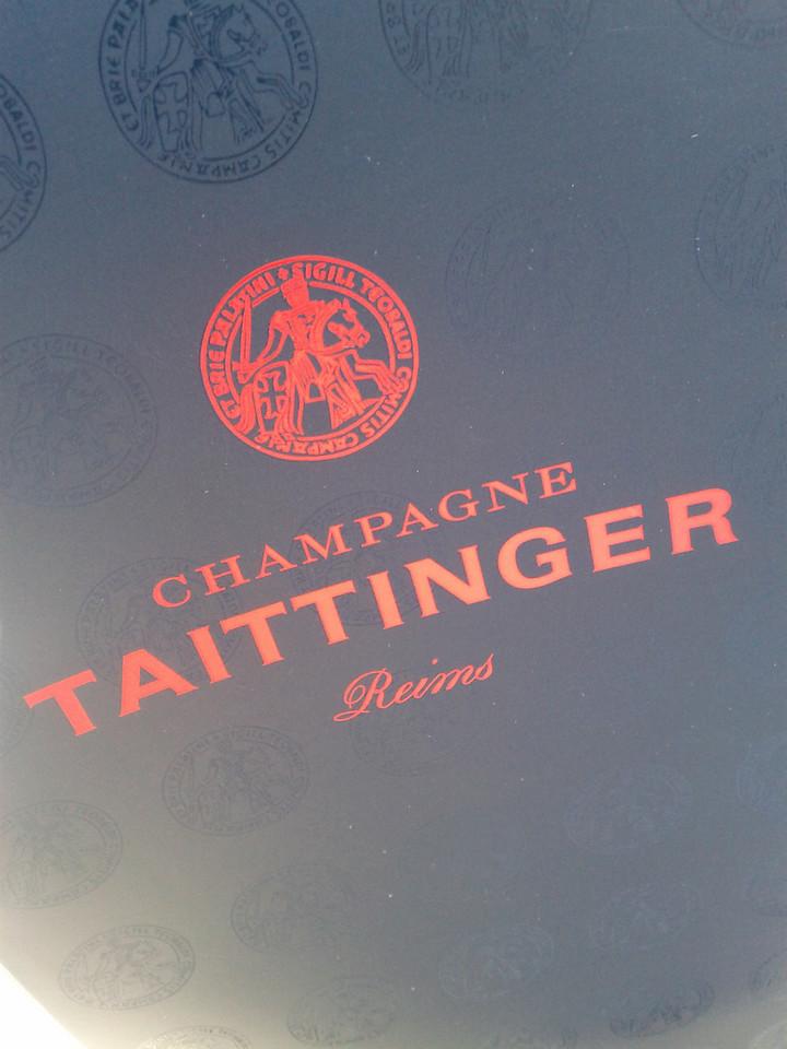 bottle of champagne from Taittinger