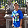 Jacob being silly while waiting for the Haunted Mansion