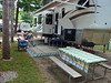 Here is a picture of us back at the camper in Wells, Maine. The site was nice, but narrow.