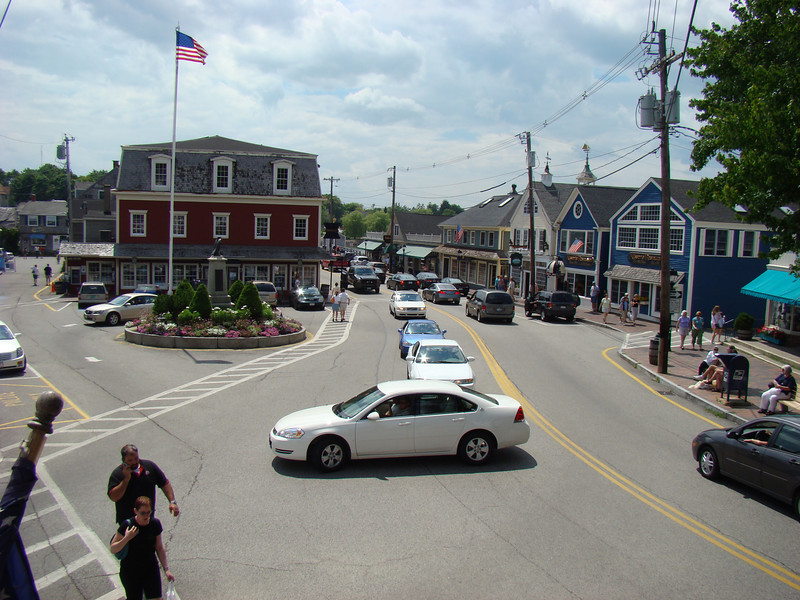 Kennebunkport's main Square.
