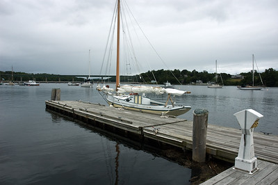 Amity docked at Belfast, Maine. This is a Friendship Sloop built around 1911. Mary Anne and I were fortunate to sail with the owner out around the harbor, very pleasing boat.