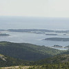We drove to the highest point on the island, Cadillac Mountain.  Here is a panoramic picture of the view looking towards the Cranberry Islands.