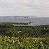 Here is a panorama view of Camden Harbor, Camden and Penobscot Bay from Mount Battie in the Camden Hills State Park.