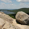 We hiked up to South Bubble to find the famous balancing Bubble Rock with Jordan pond in the background.