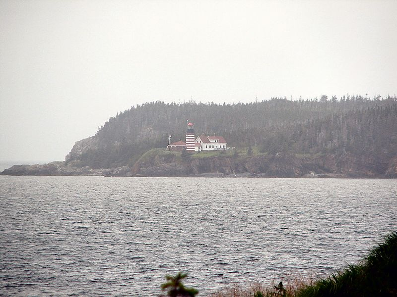 Quoddy Head Lighthouse From New Brunswick