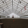 the covered indoor arena