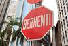 Stop sign in Kuala Lumpur, Malaysia
