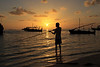 Fisherman at sunset, Dhangethi Island