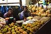 Mangos and coconuts at the market
