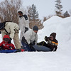 <center>The Uytiocos came up to enjoy the snow with us. Kids couldn't wait to start sledding</center>