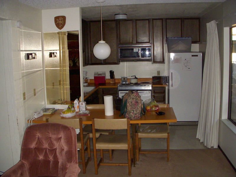 """Our 1 bedroom rental for the weekend, Sherwin Villas #52 Unit """"F'."""