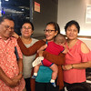 With Tita Sonia, Tita Violy, and Tita Helen