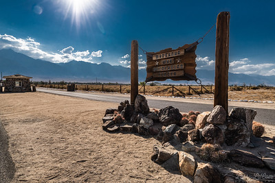 Manzanar, at the camp where Japanese were interned during World War II