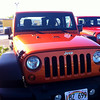 We didn't rent this orange Jeep Wrangler but it did look pretty cool.  We got a ruby red 4 door Jeep Wrangler instead.