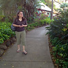 Timber is walking around and having a look at the Maui Tropical Plantation.