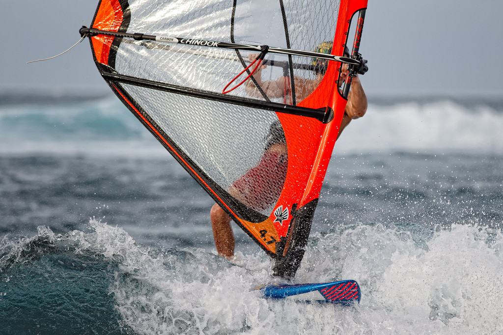 February 18, 2012: Windsurfing on the north shore.