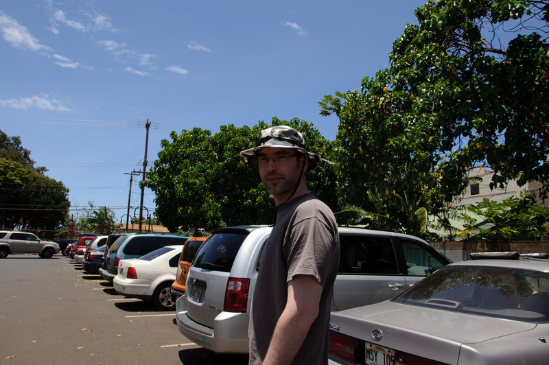 Connie photo-sniping me again while in Paia
