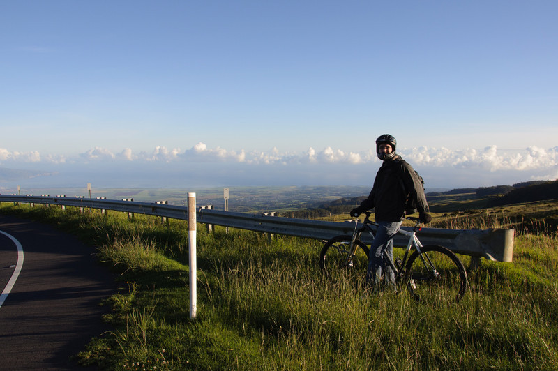 Bicycling down Haleakala after watching the sunrise.