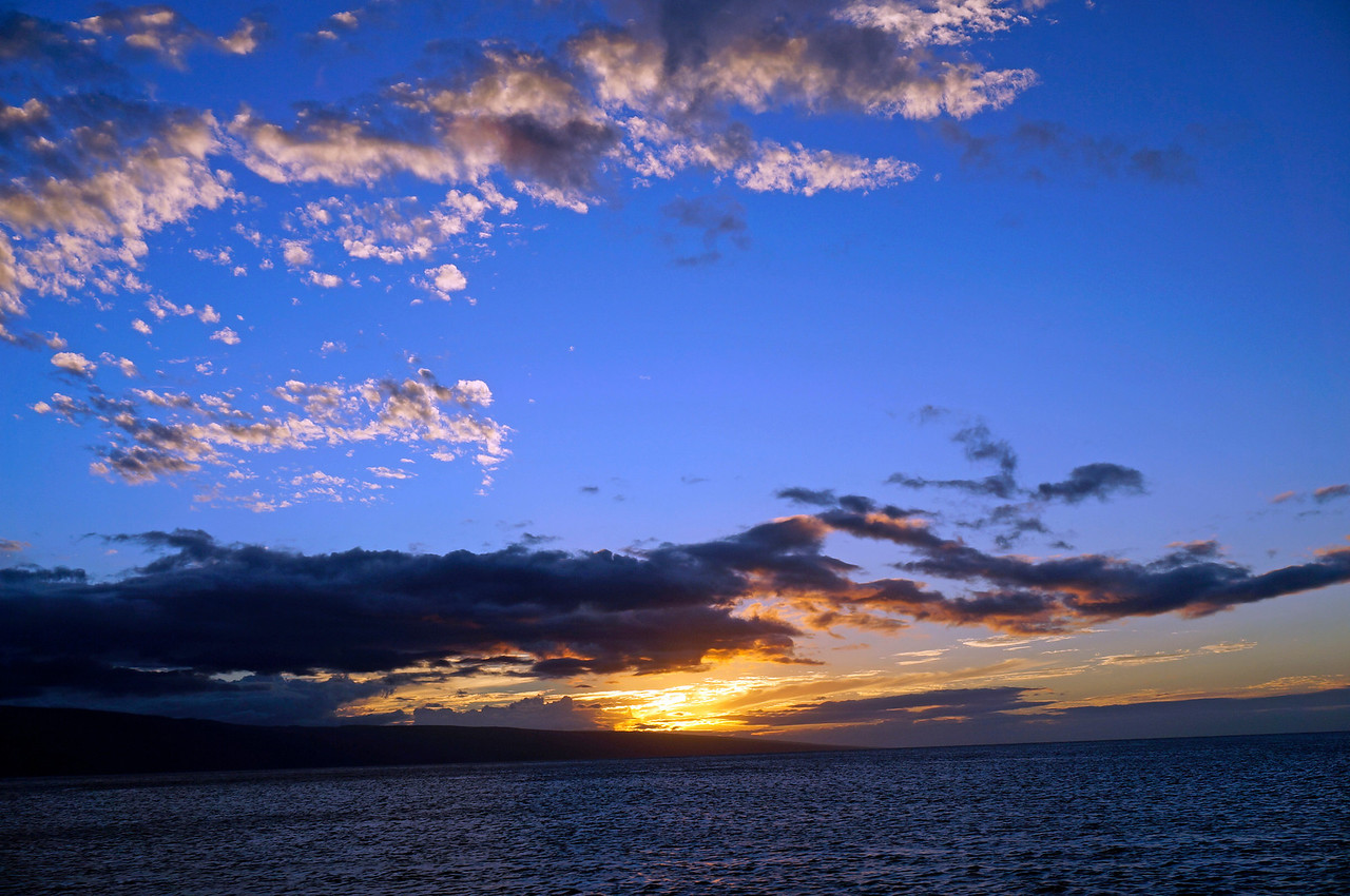 Sunset on the dinner cruise.