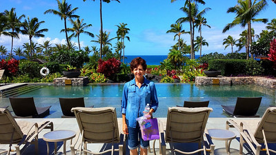 At the resort pool in Kapalua.