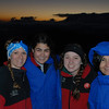 L to R: Julie, Rachel, Kayla, and Tina. Outside temperature is in the mid 20s.