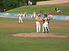 A Confab on the mound, as Ernie would say.