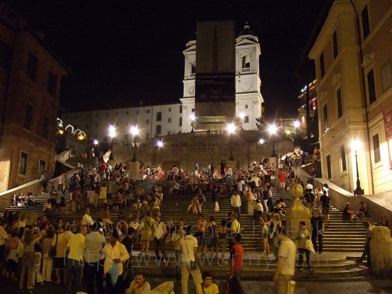 Looking up the Spanish Steps