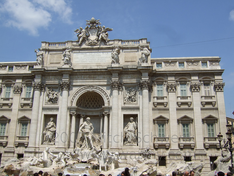 Trevi Fountain - Notice the fake window in the top right.