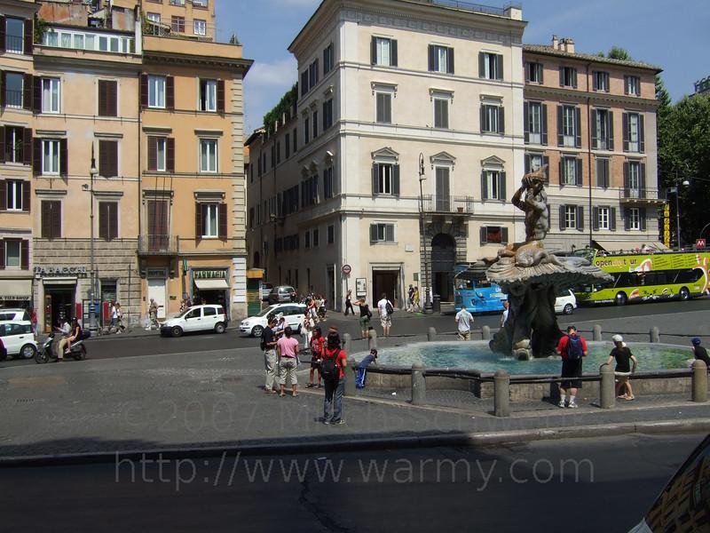 A fountain in Rome.