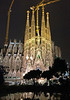 Went back to the Sagrada Familia to see the nighttime illumination.  It was really spectacular - cranes and all!