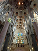Here's a view of the inside of the Sagrada Familia.  Gaudi was very influenced by nature and the pillars are supposed to represent trees.