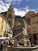 The cathedral square in the beautiful town of Amalfi along the Mediterranean near the end of its namesake, the Amalfi Coast Road.