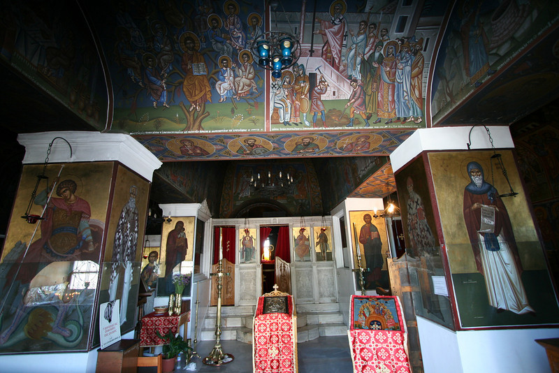The tallest point in Athens - Lycabettus Hill - Inside the Greek Orthodox Church of St. George on top