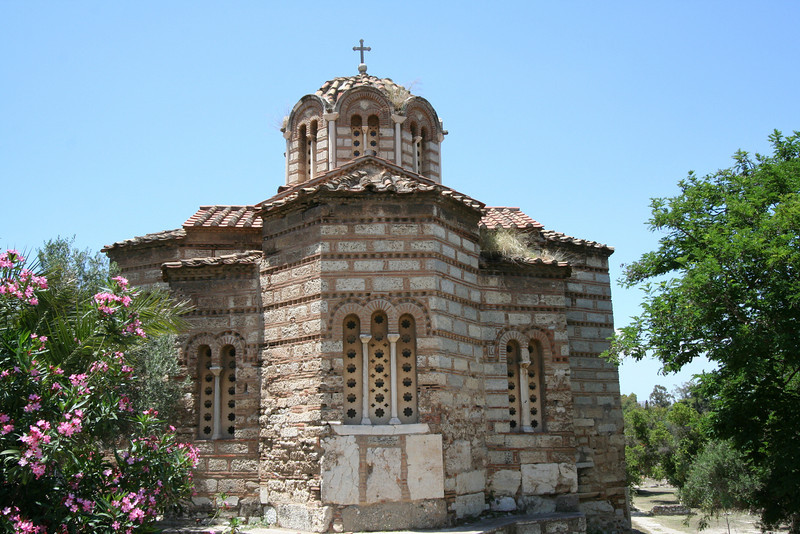 Athens - The Church of the Holy Apostles that was originally built in the 11th century is located in the Agora.