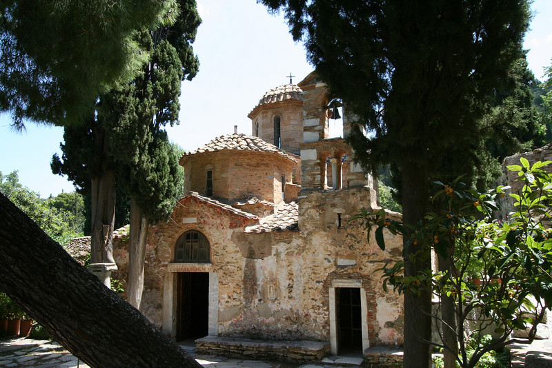Outside Athens - Kesariani Monastery