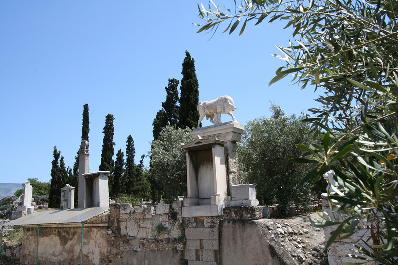 Athens - Keramikos -  The Street of Tombs in the old cemetery.