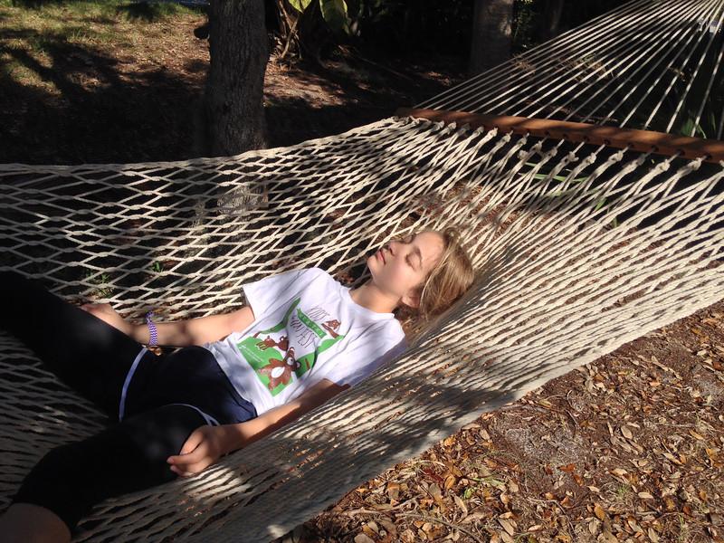 Relaxing on Merritt Island, Fl. March 2014.