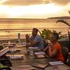Bucerias–Sunset at the Mezzogiorno Restaurant next to the beach