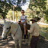 Grandson Miles getting ready for the horseback ride up the river to Moro Paraiso
