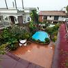 Soaking wet courtyard