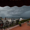 Yet another morning storm approaches our hotel rooftop