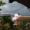 Looking out our room at the approaching storm