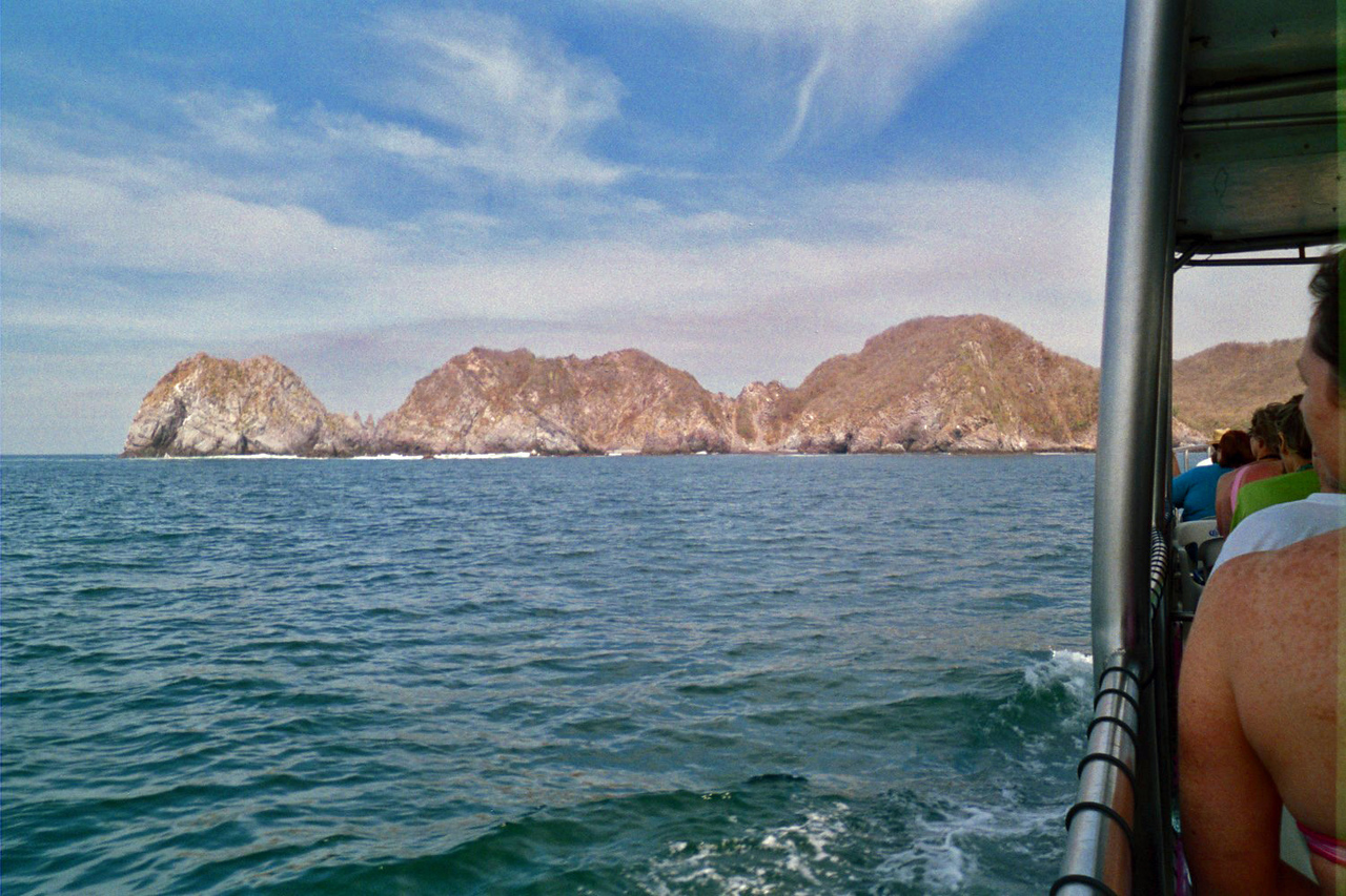 On the way to Elephant Rock in Manzanillo to do some snorkeling.