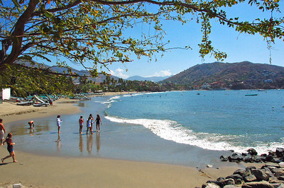 Beach at Zihuatanejo.