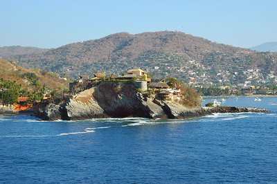 Entrance to bay at Zihuatanejo.