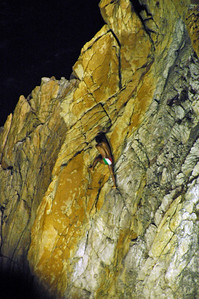To me the climb up looked far scarier than the dive down!