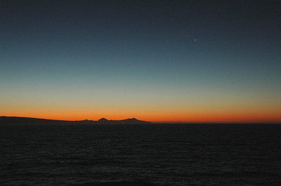 Dawn just north of Cabo San Lucas, Mexico.