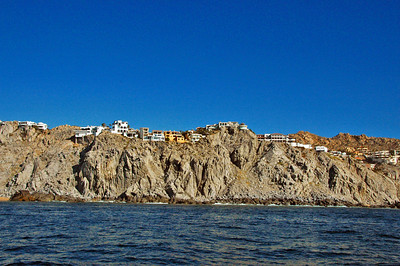 Pricey homes north of Cabo on the way to whale watching.