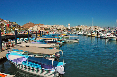 The marina at Cabo San Lucas.