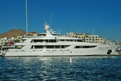 "There were lots of nice yachts at Cabo.  This was probably the largest (""My Gal"")."